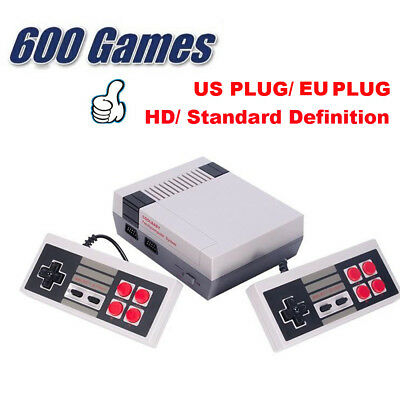 Mini Retro Classic Edition Game Console TV Built-in 600 Games with 2 Controllers