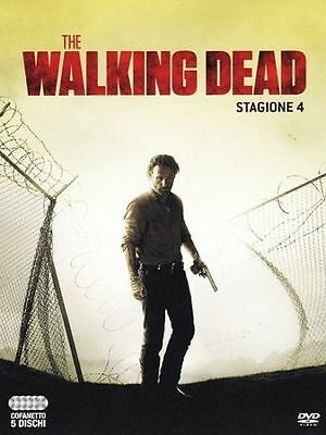 THE WALKING DEAD-STAGIONE 4 quattro-5 DVD-COFANETTO/BOX NUOVO ITALIANO SIGILLATO
