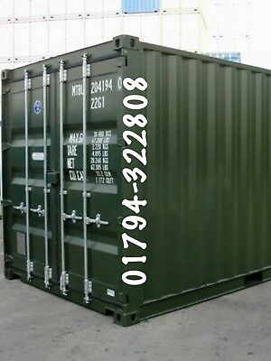 Shipping Containers 20 Ft Ral6007 London Search Boxmoves1 Online £1925 +Vat