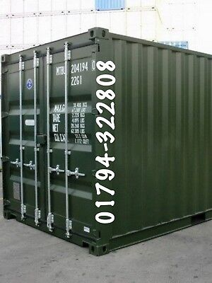 Shipping Containers 20 Ft Ral6007 Dorset Search Boxmoves1 Online £1925 +Vat