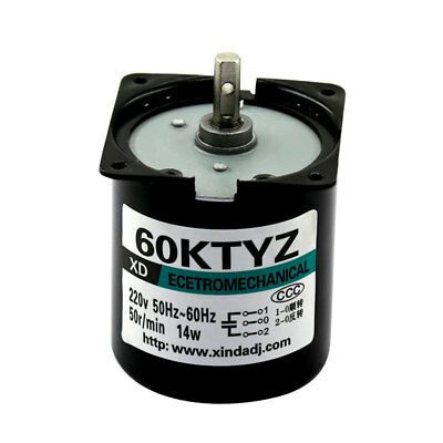220V 14W Synchronous Gear Motor With Bracket 2.5-110RPM Speed Reducing 60KTYZ
