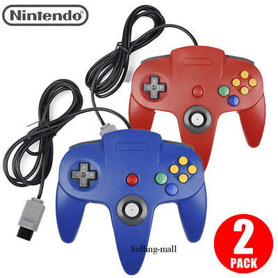 N64 Controller Joystick 64 Console Mario Kart Video Games Gamepad Long Wired US