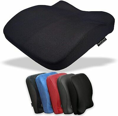 Mesh Memory Foam Seat Lumbar Back Pain Support Booster Car Cushion Office Chair