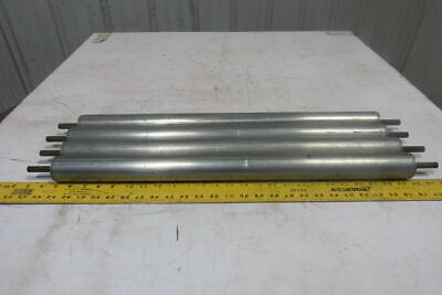 """1-7/8"""" OD x 25"""" BF Gravity Conveyor Roller 7/16"""" Extra Long Hex Axle Lot Of 4"""