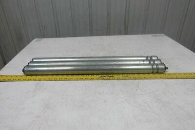 """Dematic 1-7/8"""" OD x 27-5/8"""" BF 2 Groove Conveyor Roller 7/16"""" Hex Axle Lot Of 3"""