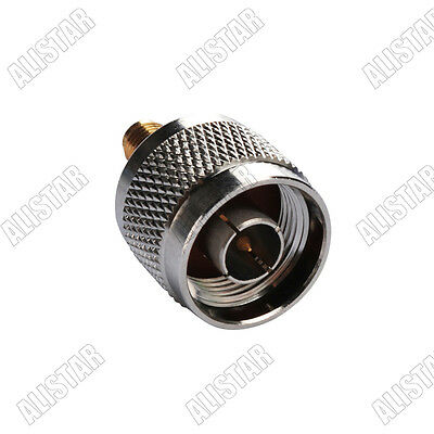 10 Pieces N Male Plug to SMA Female Jack Straight Connector Adapter RF