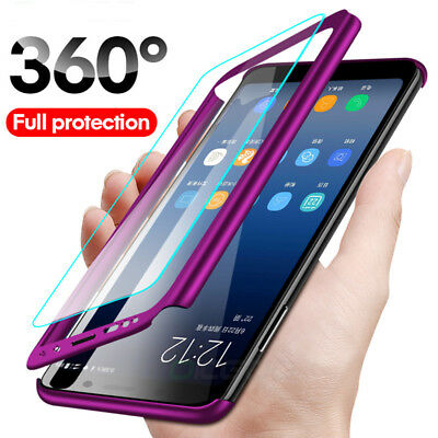 360 Full Protection Phone Case For Samsung Galaxy A7 A8 Plus Cover+Temper Glass