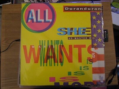"""Duran Duran All She Wants Is 2 mixes 2nd Europe 12"""""""