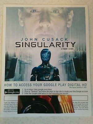 SINGULARITY- Canada only -   Digital  movie code