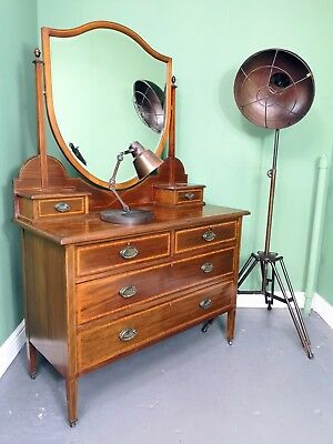 An Antique High Quality Mahogany Dressing Chest ~Delivery Available~