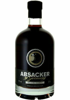 Absacker of Germany - Black Label - Premium Kräuterlikör Wahret das Absackertum