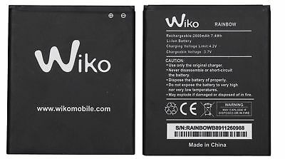 BATTERIA PER WIKO ORIGINALE 3,7V 2000mAh PILA RAINBOW JAM 3G LITE 4G BARRY BLOOM