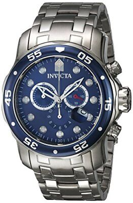 Invicta 48mm Men's 0070 Pro Diver Chronograph Swiss Parts Blue Dial SS Watch-
