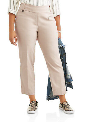 Lifestyle Attitudes Women's Plus Butter Soft Stretch Career Pant w/ Beltloop Tab