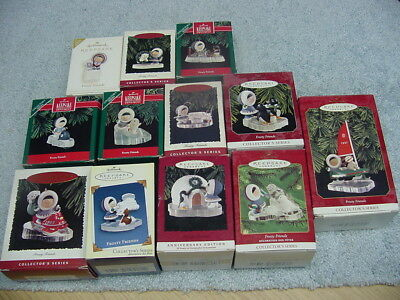 Hallmark Keepsake Frosty Friends 12 Piece Set Christmas Tree Ornaments
