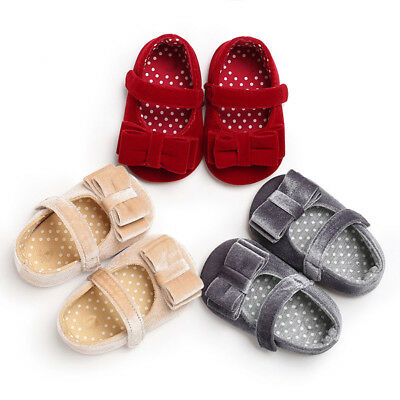 Baby Infant Kids Girl Soft Sole Crib Toddler Newborn Anti-slip Sneakers Shoes L