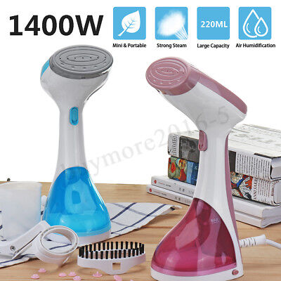 1400W Handheld Clothes Garment Steamer Fast-Heat Portable Steam Iron Home Travel
