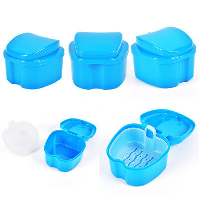 Denture Box Container Tooth StorageCase False Teeth Rinsing Basket DentalCare FG