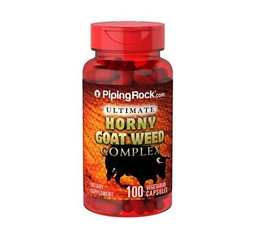 Horny Goat Weed Complex 100 capsulas Piping Rock Complejo Semillas Epidemiun