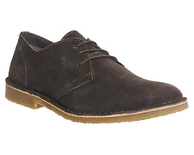 Mens Office Fahrenheit Desert Shoes Chocolate Suede Casual Shoes