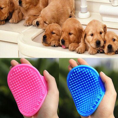 Pet Dog Cat Bath Brush Comb Rubber Glove Hair Fur Grooming Massaging Brush Mit L