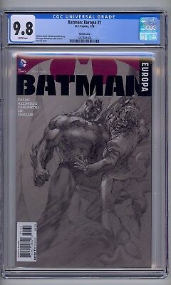 Batman: Europa #1C Jim Lee Sketch Cover CGC 9.8 (DC 2016) 1257841006