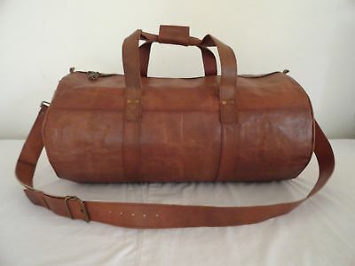 Heavy duty Bag Genuine Leather Vintage Duffle Travel Gym Overnight Weekend Large