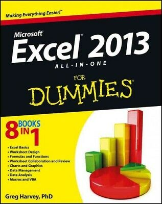 Excel 2013 All-In-One for Dummies, Paperback by Harvey, Greg, ISBN 1118510100...