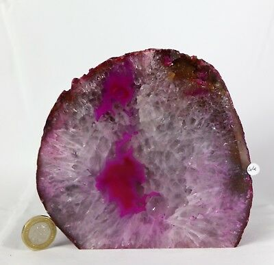 AD44 Large Pink Agate Crystal Geode Great Gift Home Art Décor  1.26KG