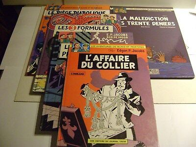 Blake Et Mortimer Lot De 5 Bd Tbe
