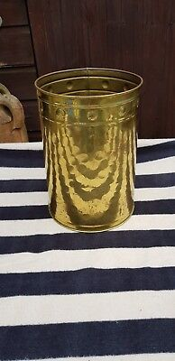 Vintage Brass Coal / Log Bucket Lombard England
