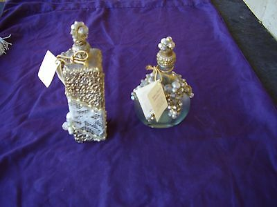 set of 2 SHEILA DAVLIN COLLECTOR PERFUME BOTTLES NUMBERED & TAGGED (503,533)