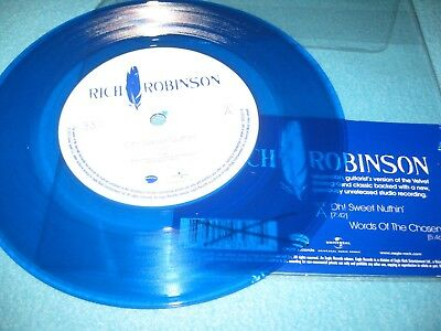 RICH ROBINSON-OH SWEET NUTHIN 2015 BLUE 7'' VINYL USA IMPORT MINT -black crowes-