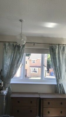 Laura Ashely Curtains And Tie Backs Josette Duck Egg Eyelet Brand New Home, Furniture & Diy Curtains & Pelmets