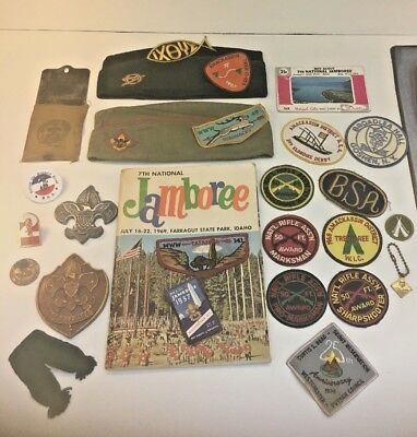 27pc Vintage Boy Scout Lot Jamboree patches/64 V Forge Challenge coin+RARE ITEMS