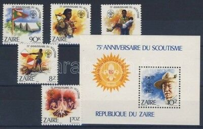 Never Hinged 1996 Cats brazzaville Congo 1451-1456 Unmounted Mint