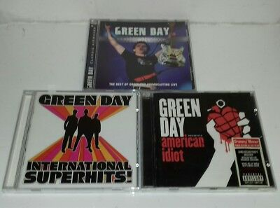 CD - Green Day X3 CDs Job Lot Bundle American Idiot Classic Airwaves Superhits
