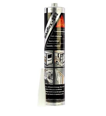 SIKA 252 BLACK High Strength Sealant Multi Purpose Flexible Adhesive Sikaflex