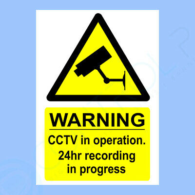 CCTV Sign, Sticker - A5 Self Adhesive- Security, Camera, Warning, CHEAPEST