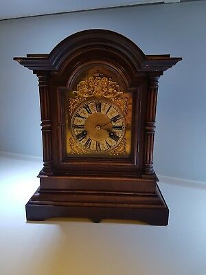 Antique Dark  Oak mantle clock - by H.A.C. 14 day Strike - 1900's No 3194