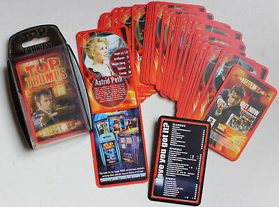 Jeu de Cartes collector Doctor Who Top Trumps 2007 série TV