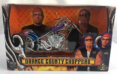 Orange County Choppers 1:6 Replica Motorcycle Die Cast Iron Legends Blue Flamed