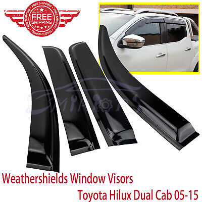 Premium Weathershields Weather shield For Hilux Dual Cab 05-15 model Sun Visors