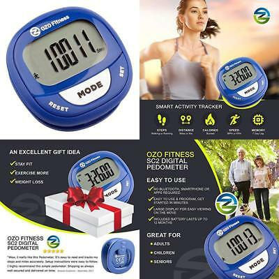 Ozo Fitness Sc2 Digital Pedometer | Best Pedometer For Walking | Accurately Trac