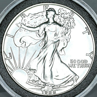 1988 American Silver Eagle $1 Dollar Coin Uncirculated .999 Fine Silver