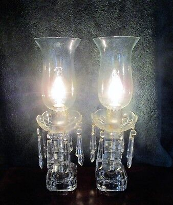 Antique Crystal Candelabras With Mantles - Operating - 2