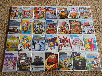 Nintendo Wii Games! You Choose from Selection! Many Titles! $3.95 Each!