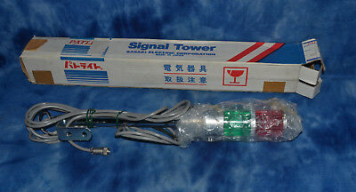"New Patlite Signal Tower 220V Ac 15W Made In Japan Over 20"" Tall"