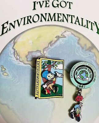 RARE! I've Got Environmentality Disney Pins, Earth Day 2002 & 2003 New on Card!