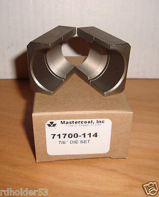"""Mastercool 71700-114 Replacement 7/8"""" Die Set For 71700 Hydraulic Flar & Swag"""
